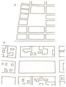 План Биржевой площади(ныне сквер) . 1887 г. (а) и 1890 г. (б)