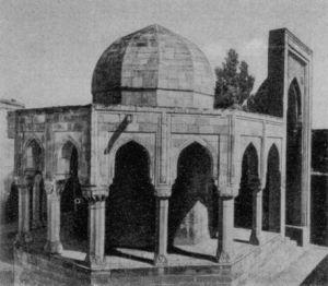 Стрельчатый свод  Дворца Ширваншахов